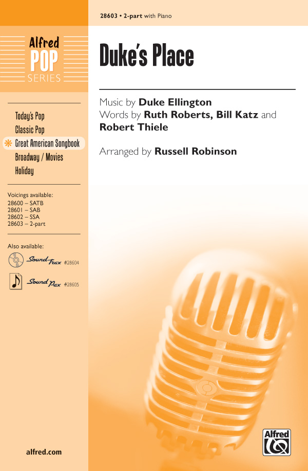 Duke's Place : 2-Part : Russell L. Robinson : Duke Ellington : Duke Ellington : Sheet Music : 00-28603 : 038081311470