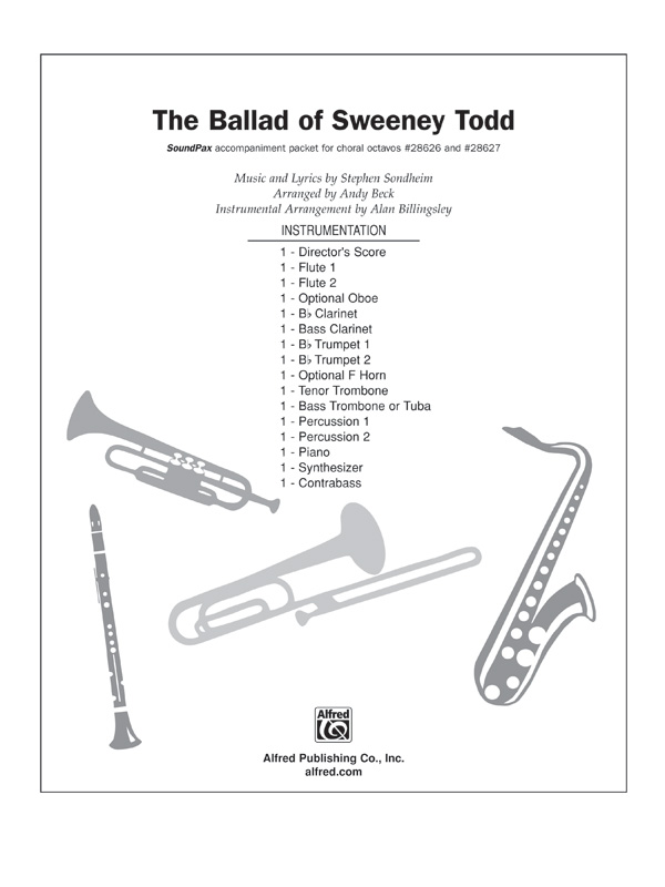 The Ballad Of Sweeney Todd From The Musical Sweeney Todd Stephen Sondheim