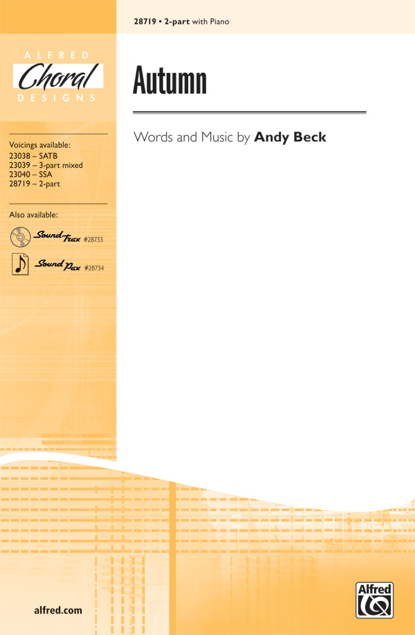 Autumn : 2-Part : Andy Beck : Andy Beck : Sheet Music : 00-28719 : 038081312637