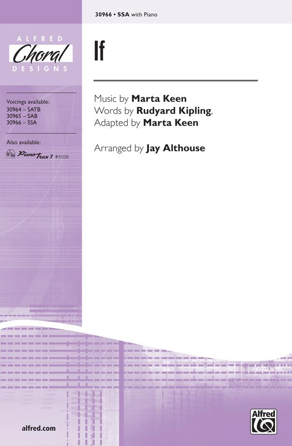 If : SSA : Jay Althouse : Marta Keen : Sheet Music : 00-30966 : 038081337388