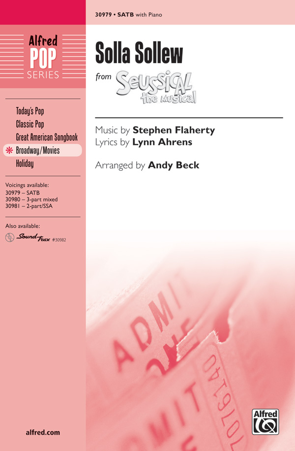 Solla Sollew : SATB : Andy Beck : Seussical the Musical : Sheet Music : 00-30979 : 038081337517