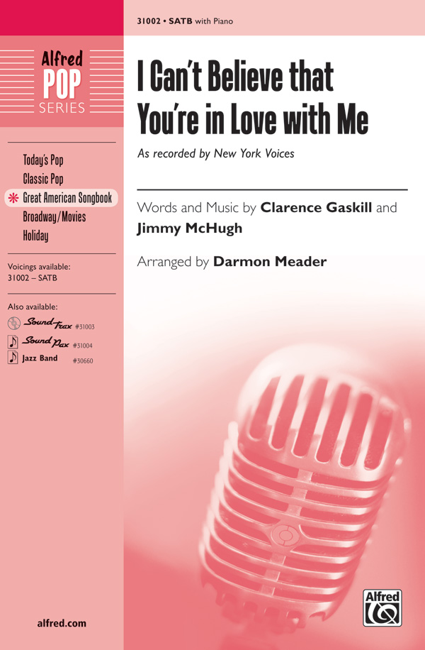 New york voices at singers sheet music cds and songbook i cant believe that youre in love with me satb stopboris Choice Image
