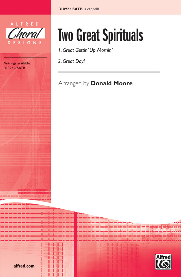 Two Great Spirituals : SATB : Donald Moore : Sheet Music : 00-31092 : 038081338644