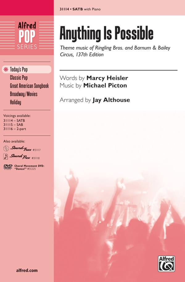 Anything Is Possible : SATB : Jay Althouse : Michael Picton : Sheet Music : 00-31114 : 038081338866