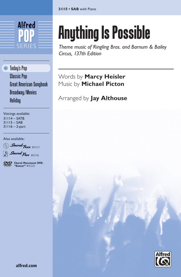 Anything Is Possible : SAB : Jay Althouse : Michael Picton : Sheet Music : 00-31115 : 038081338873