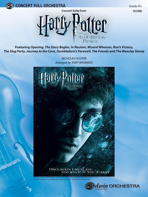 harry potter and the half blood prince concert suite from full orchestra conductor score nicholas hooper alfred music
