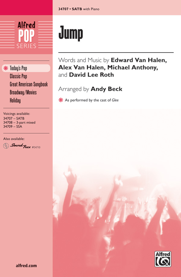 Jump : SATB : Andy Beck : Michael Anthony : David Lee Roth : Songbook & CD : 00-34707 : 038081384351