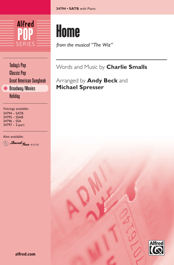 Home : SATB : Andy Beck : Charlie Smalls : Kristin Chenoweth : The Wiz : Sheet Music : 00-34794 : 038081385204