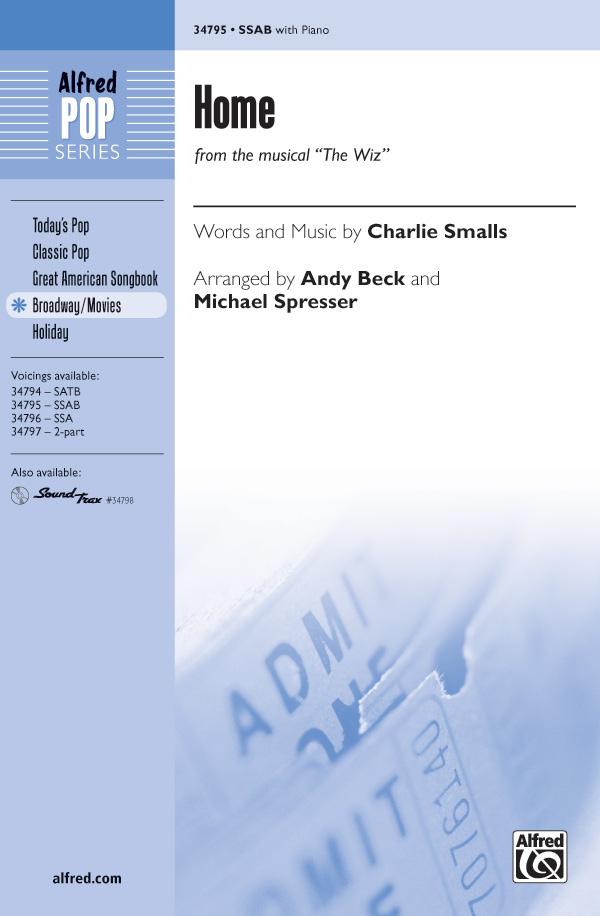 Home : SSAB : Andy Beck : Charlie Smalls : Kristin Chenoweth : The Wiz : Sheet Music : 00-34795 : 038081396613