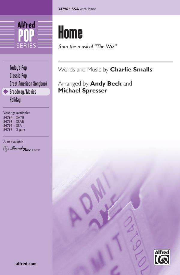 Home : SSA : Andy Beck : Charlie Smalls : Kristin Chenoweth : The Wiz : Sheet Music : 00-34796 : 038081396620