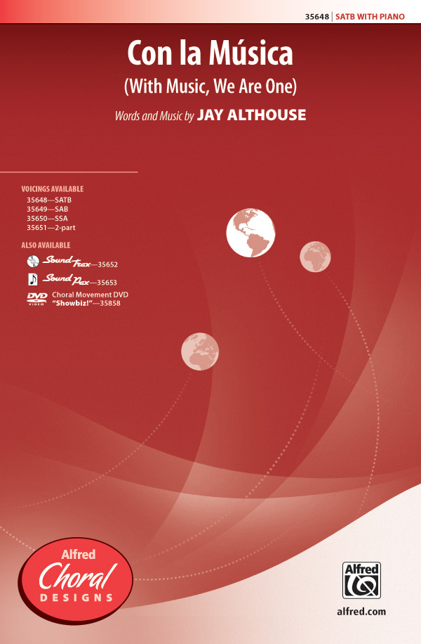 Con la Musica : SATB : Jay Althouse : Jay Althouse : Sheet Music : 00-35648 : 038081398440