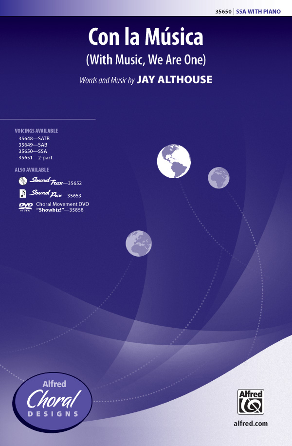 Con la Musica : SSA : Jay Althouse : Jay Althouse : Sheet Music : 00-35650 : 038081398464