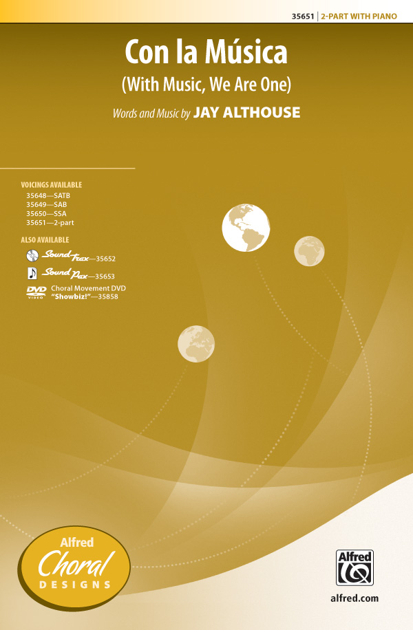 Con la Musica : 2-Part : Jay Althouse : Jay Althouse : Sheet Music : 00-35651 : 038081398471