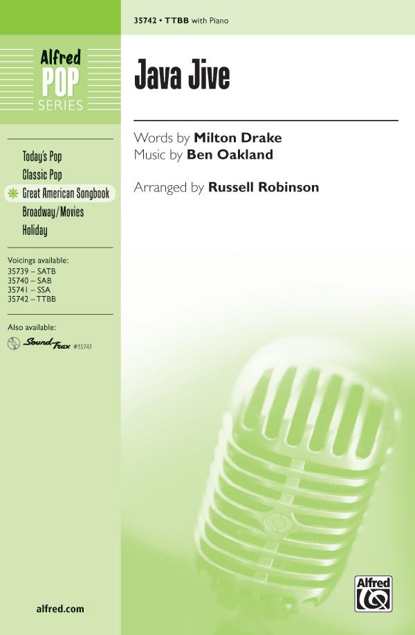 Java Jive : TTBB : Russell L. Robinson : Ben Oakland : Sheet Music : 00-35742 : 038081399386