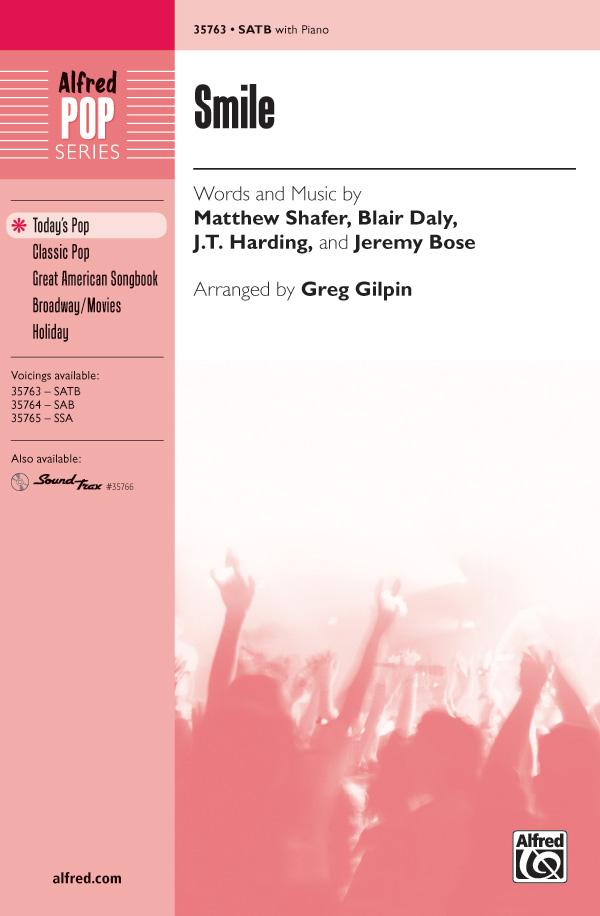 Smile : SATB : Greg Gilpin : Charles Chaplin : Sheet Music : 00-35763 : 038081399591
