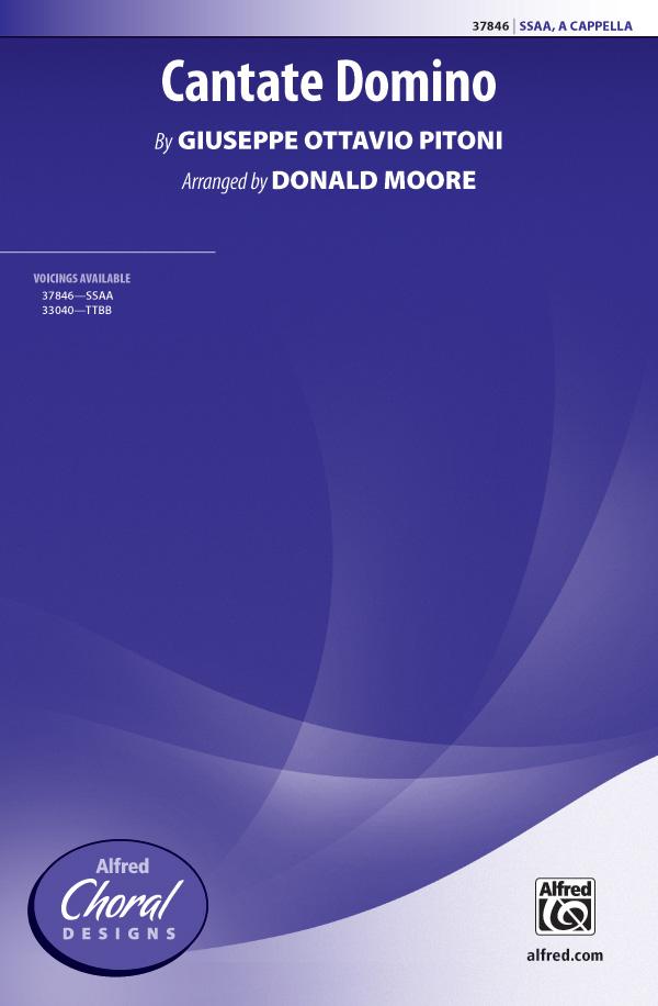 Cantate Domino : SSAA : Donald Moore : Giuseppe Ottavio Pitoni : Sheet Music : 00-37846 : 038081423180