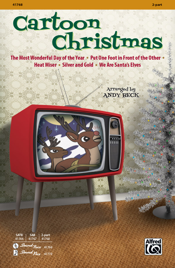 Cartoon Christmas : 2-Part : Andy Beck : Cartoon Christmas : Sheet Music : 00-41768 : 038081468488