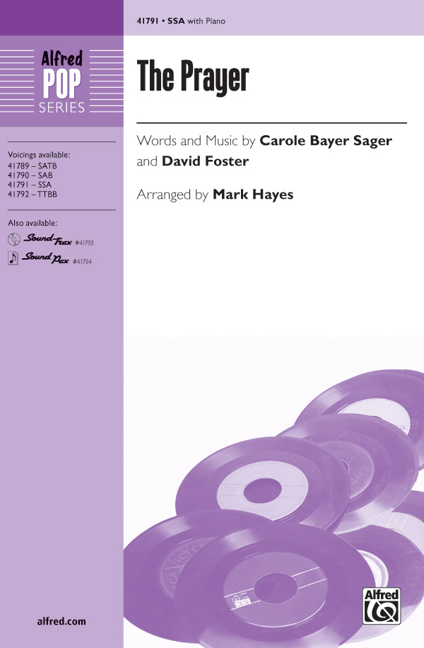 The Prayer : SSA : Mark Hayes : David Foster : Celine Dion : Sheet Music : 00-41791 : 038081468716