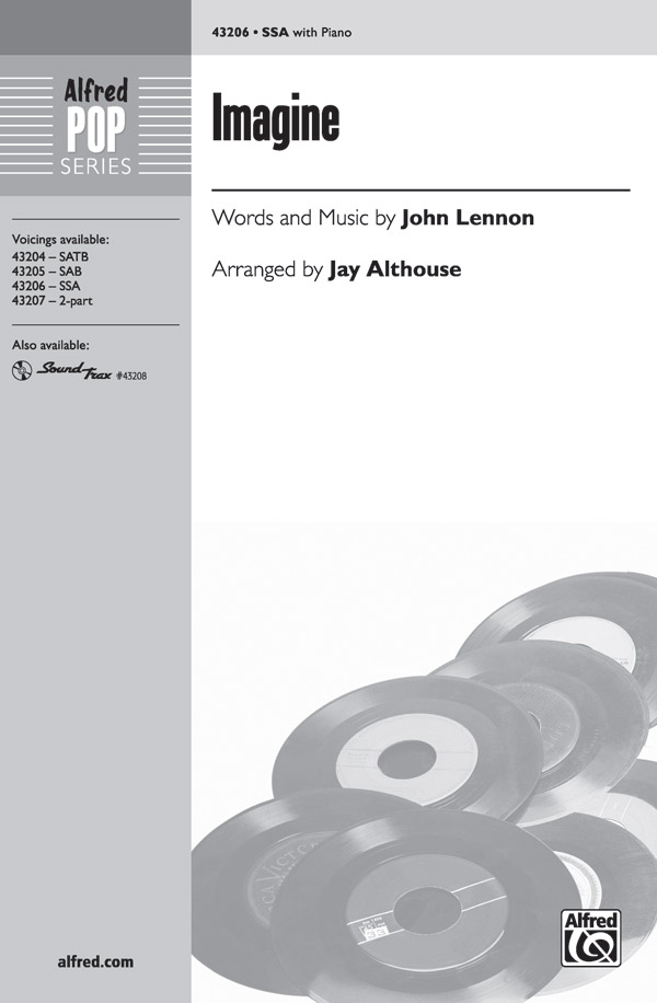 Imagine : SSA : Jay Althouse : John Lennon : Sheet Music : 00-43206 : 038081487489