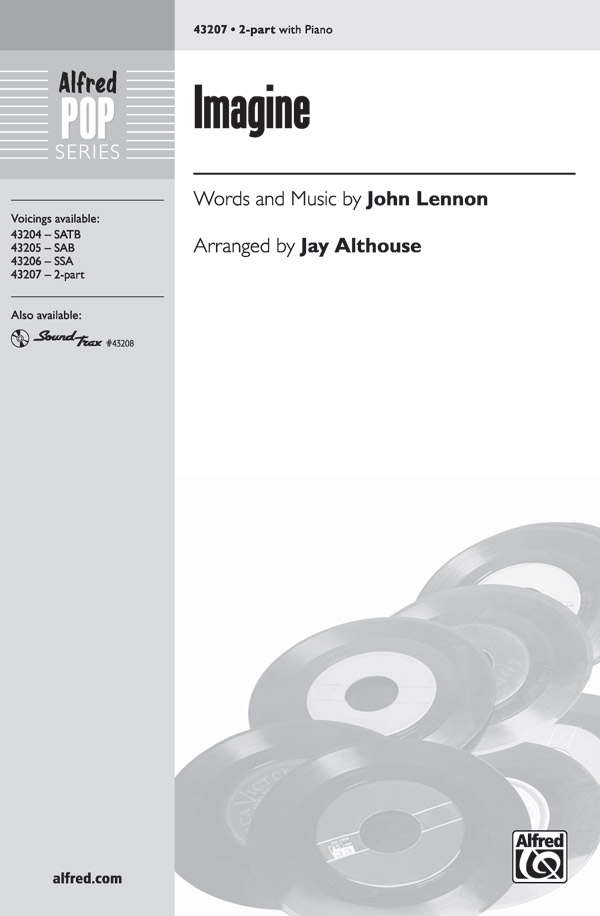 Imagine : 2-Part : Jay Althouse : John Lennon : Sheet Music : 00-43207 : 038081487496