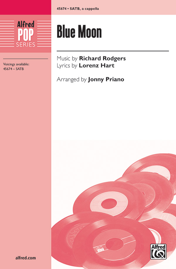 Blue Moon : SATB : Jonny Priano : Richard Rodgers : Sheet Music : 00-45674 : 038081514130