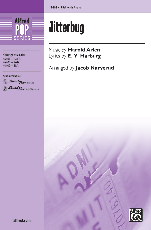 Jitterbug : SSA : Jacob Narverud : Harold Arlen : The Wizard of Oz : Sheet Music : 00-46403 : 038081527826