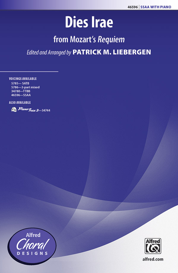 : SSAA : Patrick Liebergen : Wolfgang Amadeus Mozart : Sheet Music : 00-46596 : 038081531717