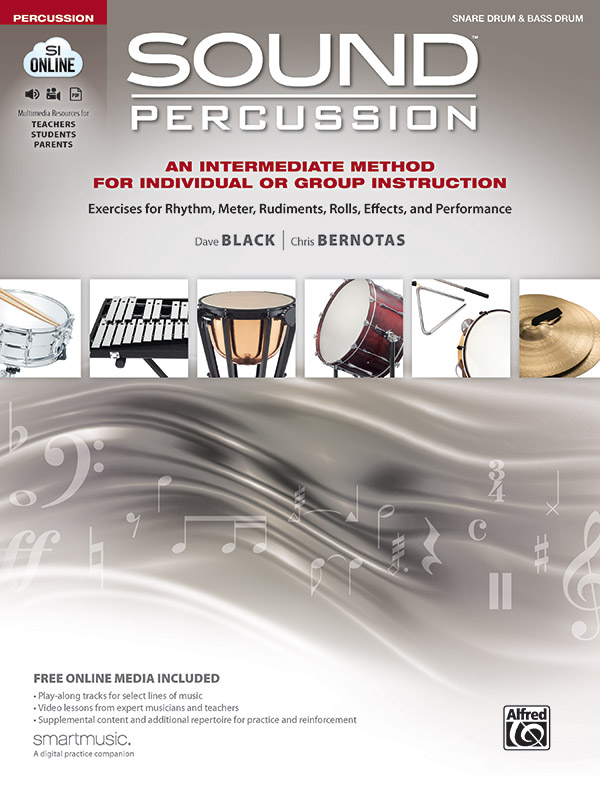 Sound Percussion for Individual or Group Instruction: Snare Drum & Bass Drum Book