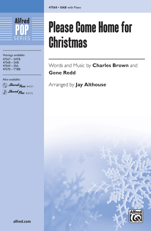 Please Come Home for Christmas : SAB : Jay Althouse : Sheet Music : 00-47568 : 038081542614