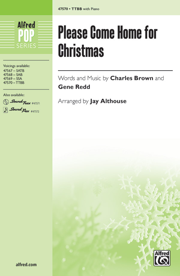 Please Come Home for Christmas : TTBB : Jay Althouse : Sheet Music : 00-47570 : 038081542638