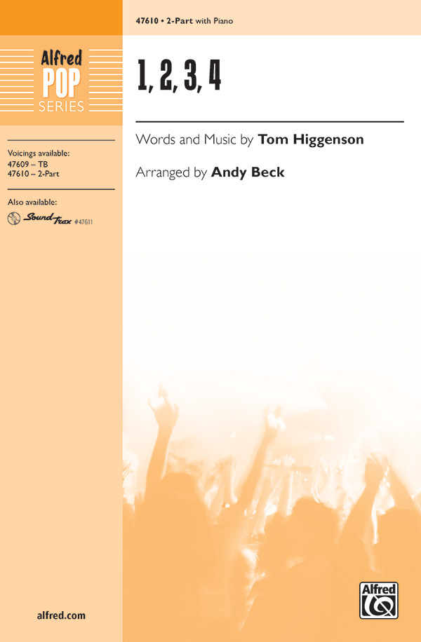 1, 2, 3, 4 : 2-Part : Andy Beck : Sheet Music : 00-47610 : 038081543031