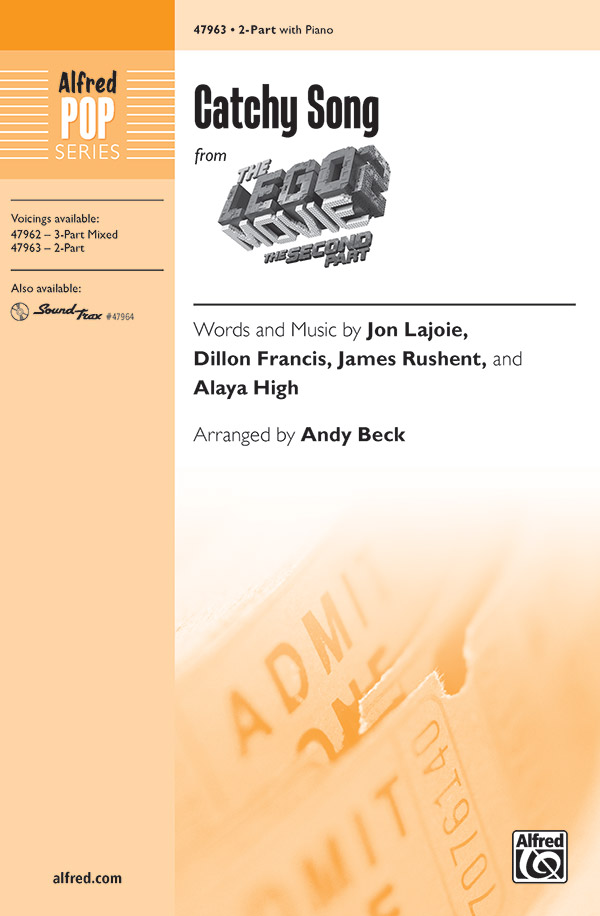 Catchy Song : 2-Part : Andy Beck : The Lego Movie : Sheet Music : 00-47963 : 038081549392