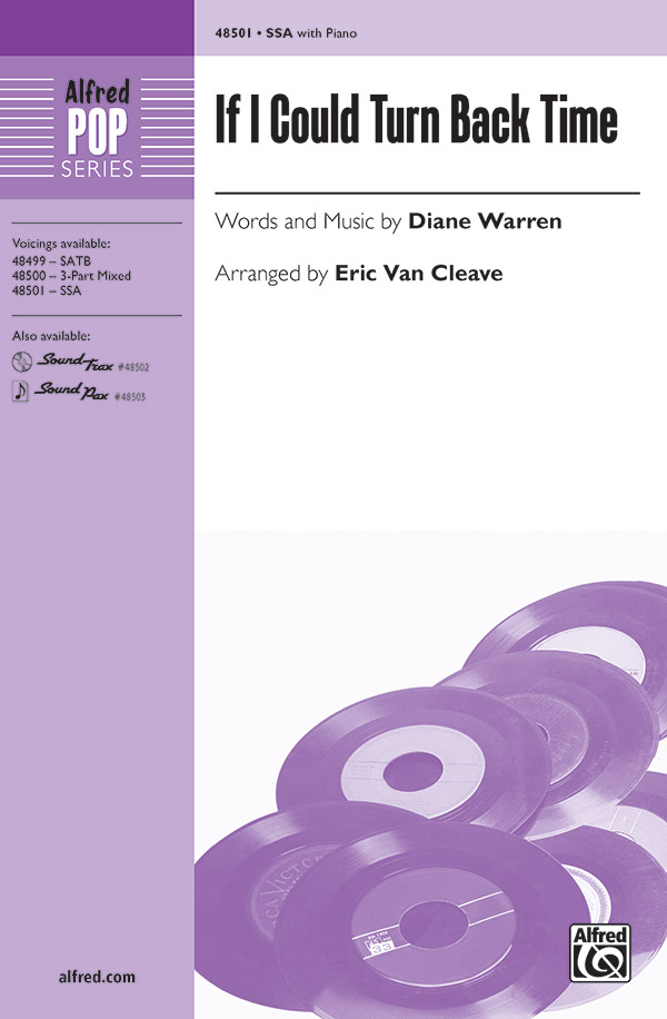 If I Could Turn Back Time : SSA : Diane Warren : Diane Warren : Cher : Sheet Music : 00-48501 : 038081553245