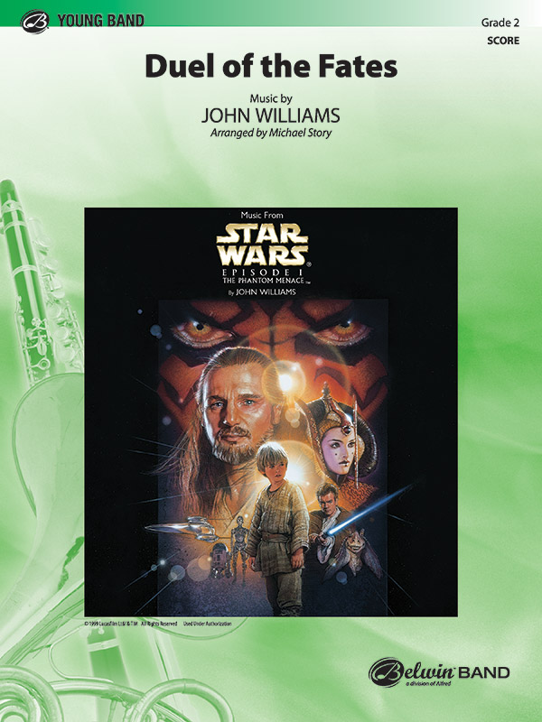 Duel Of The Fates Concert Band Conductor Score John Williams