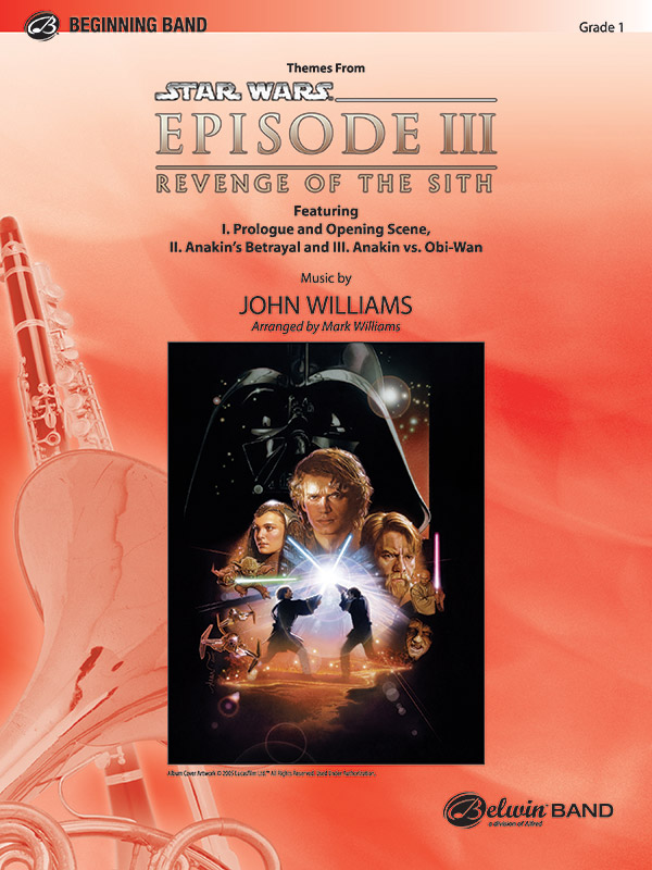 Star Wars Episode Iii Revenge Of The Sith Themes From Concert Band Conductor Score Parts John Williams