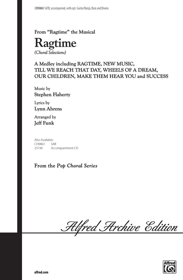 Ragtime (Choral Selections) : SATB : Jeff Funk : Ragtime : Sheet Music : 00-CH9860 : 029156910339
