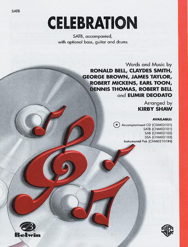 Celebration : SATB : Kirby Shaw : George Brown : Sheet Music : 00-CHM02101 : 654979039990
