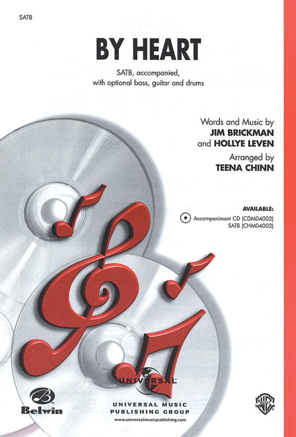 By Heart : SATB : Teena Chinn : Hollye Leven : Sheet Music : 00-CHM04002 : 654979067887