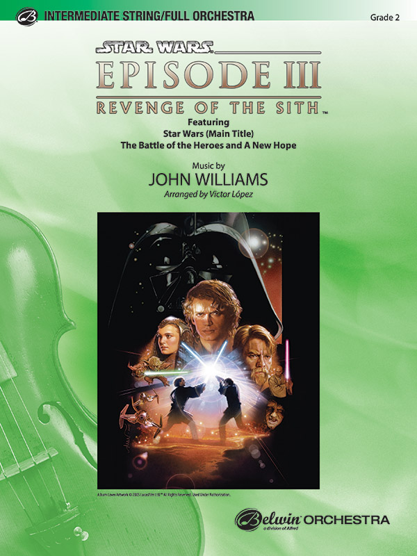 Star Wars Episode Iii Revenge Of The Sith Selections From Full Orchestra Conductor Score Parts John Williams