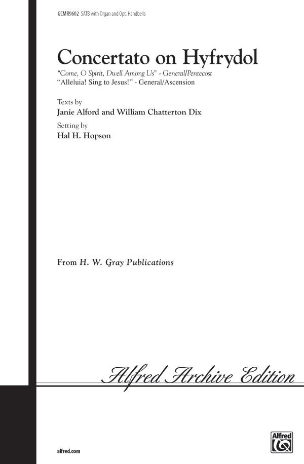Concertato on Hyfrydol : SATB : Hal H. Hopson : Sheet Music : 00-GCMR9602 : 029156190496