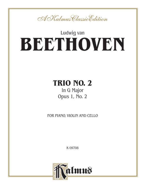 Piano Trio No. 2 in G Major, Op. 1, No. 2 (Piano Score)