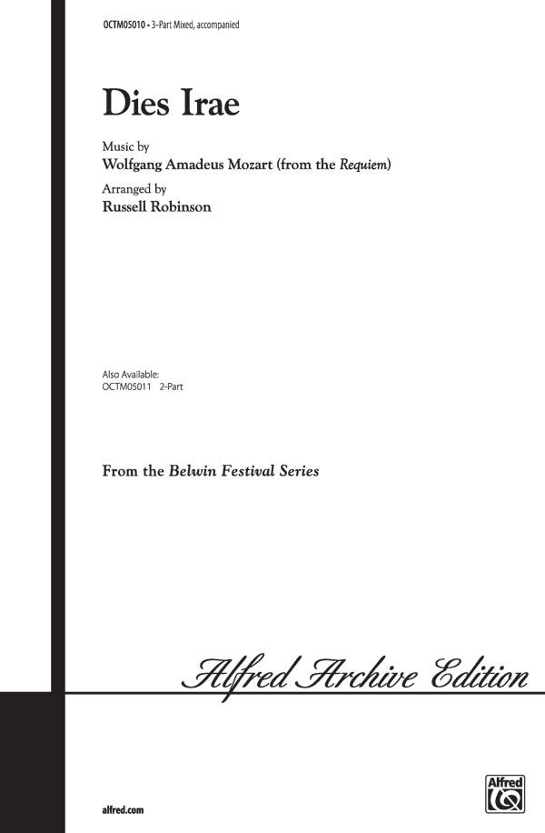Dies Irae : 3-Part Mixed : Russell Robinson : Wolfgang Amadeus Mozart : Sheet Music : 00-OCTM05010 : 654979097228