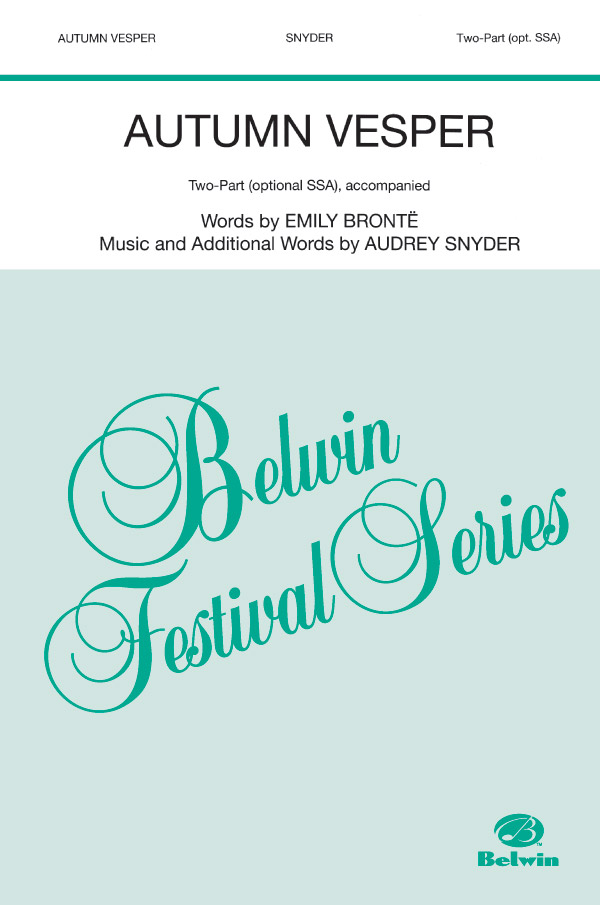 Autumn Vesper : 2-Part (Opt. SSA) : Audrey Snyder : Audrey Snyder : Sheet Music : 00-SV9401 : 029156079890