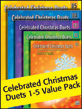 Celebrated Christmas Duets 1-5 (Value Pack)