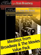Dan Coates Popular Piano Library: Medleys from Broadway & Medleys from the Movies Value Pack 2012