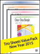 Trio Sheets Value Pack New Year 2015