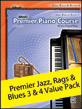 Premier Piano Course, Jazz, Rags & Blues 3 & 4 (Value Pack)