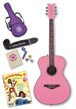 Daisy Rock Girl Guitars: Pixie Acoustic Guitar Starter Pack (Powder Pink)