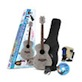 Daisy Rock Girl Guitars: Pixie Acoustic Guitar Starter Pack (Silver Sparkle)