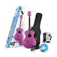 Daisy Rock Girl Guitars: Pixie Acoustic Guitar Starter Pack (Pink Sparkle)